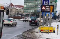 Mobilny znak zmiennej treści stanął w centrum Gdańska