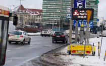 Mobilne znaki zmiennej treści na Podwalu...