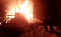 Pożar altanki okolice ul. Damroki