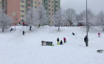 Zima w pełni na górce na Witominie