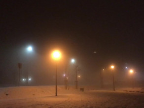 Gęsta mgła nad Gdańskiem. Rejon Ujeściska