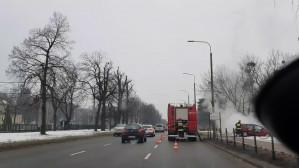 Pożar seata na al. Zwycięstwa w Gdańsku
