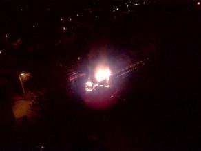 Nocny pożar samochodu na Zaspie