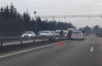 Wypadek w stronę autostrady