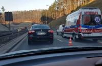 Wypadek na łączniku Estakady Kwiatkowskiego i obwodnicy