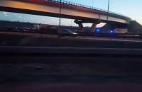 6 lub 7 aut stuknęło się pod wiaduktem Karczemki