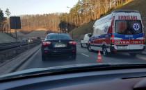 Wypadek na estakadzie w Gdyni