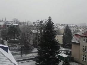 Lekko pada śnieg we Wrzeszczu