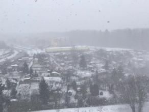 Intensywne opady śniegu na Witominie