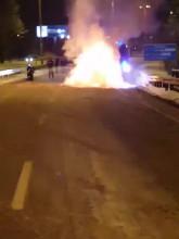 Płonie samochód na obwodnicy