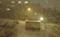 Pada śnieg na Obłużu.