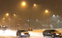 Śnieżyca na Ujeścisku. Tramwaj i autobus...
