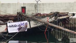 Jacht Knudel wyciągnięty z dna mariny