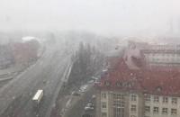 Opady śniegu w Gdańsku