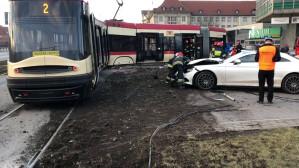 Ewakuacja pasażerów tramwaju