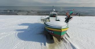 Piękna zima nad morzem w Sopocie