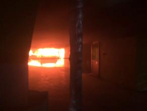 Pożar samochodu w Galerii Morena