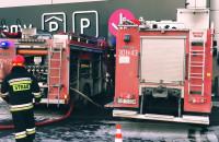 Strażacy przed Galerią Morena