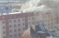 Pożar przy ul. Zimnej 2 w Gdańsku