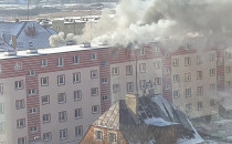 Pożar w bloku przy ul. Zimnej w Gdańsku