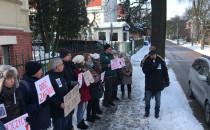 Protest pod konsulatem Federacji Rosyjskiej