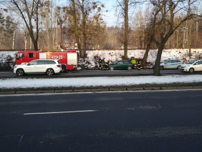 Zapalił się samochód między Gdynią i Sopotem