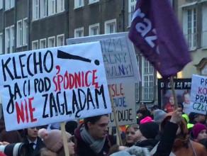 Przebieg manify w centrum Gdańska