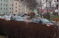 Ul. Piotrkowska na Ujeścisku zakorkowana