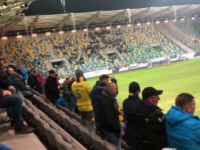 Radość po golu Arki Gdynia na 2:0 w meczu z Termaliką