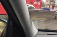 Wypadek Grunwaldzka koło galerii w kierunku Gdańska