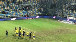 Radość po zwycięstwie Arki Gdynia nad Termaliką Nieciecza 4:0