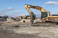 Rozbiórka budynków przy Nabrzeżu Polskim w Gdyni