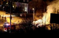 Pożar samochodu na ul. Nowowiczlińskiej w Gdyni
