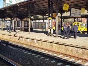 Zamknięty peron na Dworcu PKP w Gdańsku