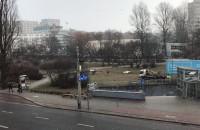 Śnieżny początek astronomicznej wiosny w Gdyni