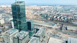 Najwyższy budynek w Trojmiescie z powietrza