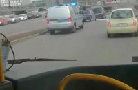 Wypadek koło Okopowej