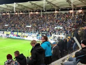 Radość po golu Arki Gdynia w meczu z Legią Warszawa 1:0