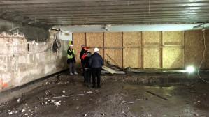 Wnętrze tunelu pod peronem 2 w Gdańsku Głównym