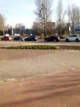 Korek na Czarnym Dworze w kierunku stadionu