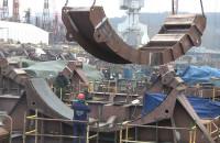 Barki do transportu wież wiatrowych w Gdyni