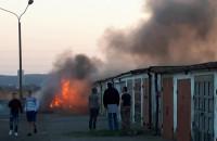 Pożar garażu w Brzeźnie