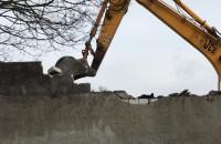 Wyburzanie budynków przy ul. Chylońskiej w Gdyni