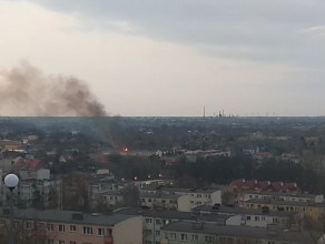 Pożar na Oruni przy ul.Równej