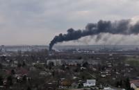 Pożar - dym nad Gdańskiem