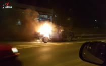 Straszyn - pożar auta