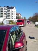 Pożar worka na balkonie, ul. Płocka