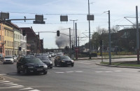 Czarny dym w Gdańsku