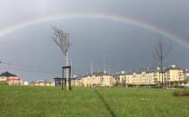 Piękna tęcza nad Gdańskiem
