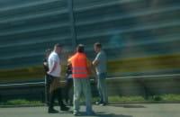 Pożar samochodu na autostradzie w kierunku Torunia
